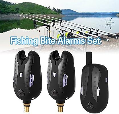 Amazon.com: Lixada Inalámbrico Digital alarma Pesca Juego de ...