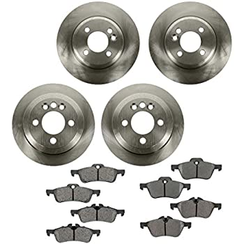 Front Brake Rotors And Ceramic Pads Drilled Slotted Kit Fits 02-06 Mini Cooper