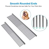 Cafhelp 2 Pack Dog Combs with Rounded Ends
