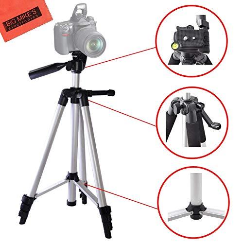 Lightweight 57-inch Professional Camera Tripod For Sony Alpha A99, A3000, A5000, A6000, A6300, SLT-A33, A35, A55, A58, A65, A7, A7R, A77, A77II, DSLR330L, NEX-3N, NEX-5T, NEX-6, NEX-7K, NEX-F3 Cameras