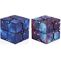 Infinity Cube Fidget Toy, 2 Parça Mini Stress Relieving Fidget Cube for Teens Boys/Girls, Unique Anxiety Relief Sensory…