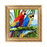honuansortory 5D Parrot Diamond Embroidery Painting Rhinestone Cross Stitch DIY Craft Decor for Home Party