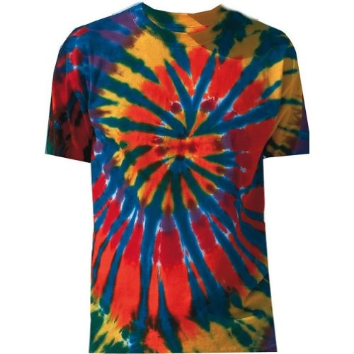 Tie Dye Mania Adult Tie-Dyed Short Sleeve Rainbow Cut-Spiral T-Shirt - XX-Large (Tie Dyed Shirt)