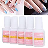 Nail Glue, Super Strong Nail Tip Bond Adhesive Glue - Perfect for False Acrylic Art Natural, Dimonties, Glitter, Rhinestones, Diamantes, Jewels, Gems, White Clear Tip Applications - Anti Fung