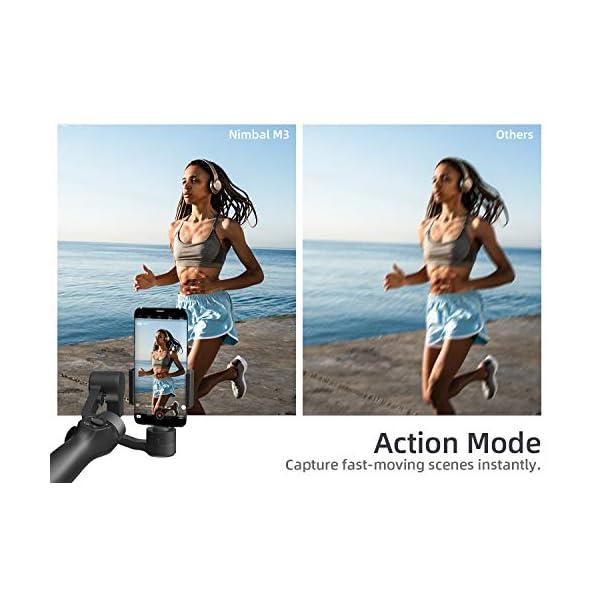 VanTop Nimbal M3 Stabilizzatore Gimbal - Stabilizzatore Smartphone a 3 Assi, 15 Ore Durata della Batteria, con Custodia Portatile e Mini Treppiede, per iPhone e Android Samsung Huawei Xiaomi 3 spesavip