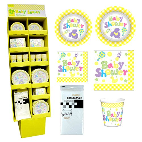 Boy/Girl Baby Shower Paper Plates (288 plates 9'') and (192 Plates 7'' - 36 plastic table cover - 144 cups 9oz- 720 napkins 13'' and 360 napkins 10''