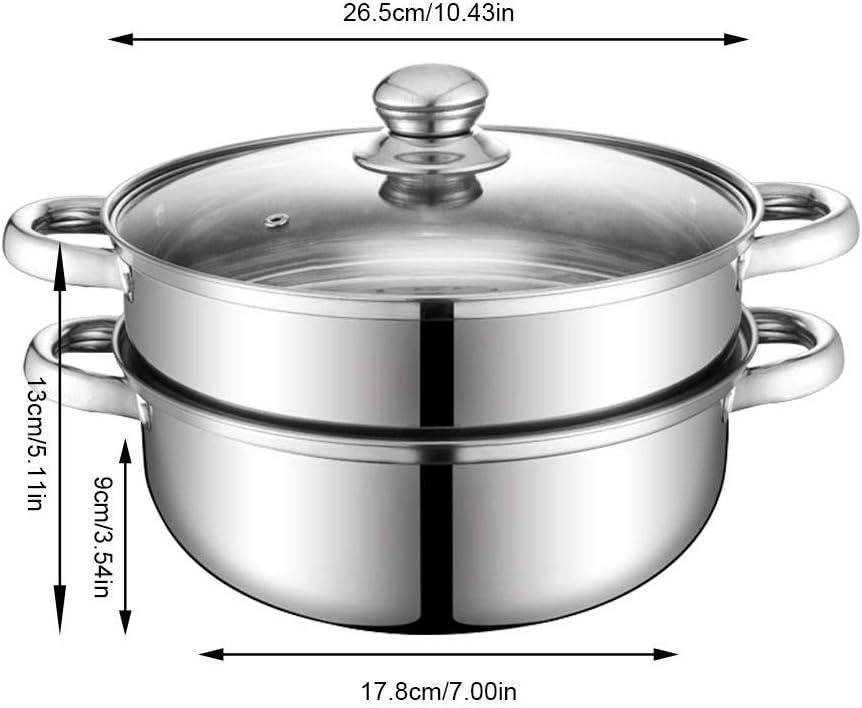 Conjunto De Olla De Vapor Y Pila De Acero Inoxidable De 2 Piezas Saucepot De Vapor Caldera Doble para Cocina Casera