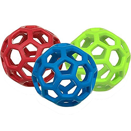 Image of JW Pet Company Mini Hol-ee Roller Dog Toy, Colors Vary - Pack of 3