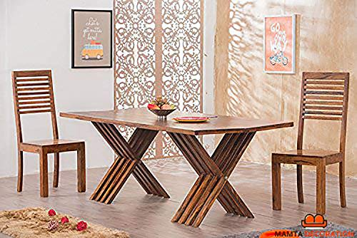 Mamta Decoration Solid Sheesham Wood Leh Dining Table Set 6 Seater    Table + 6 Chairs