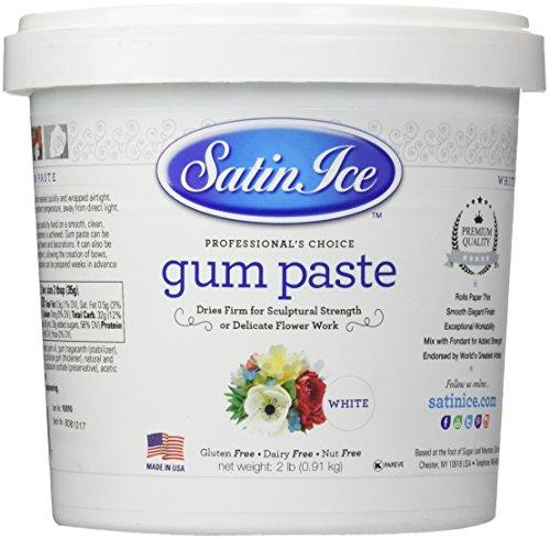Satin Fine Foods Ice Gum Paste, 2 Pound (Fondant Mix)