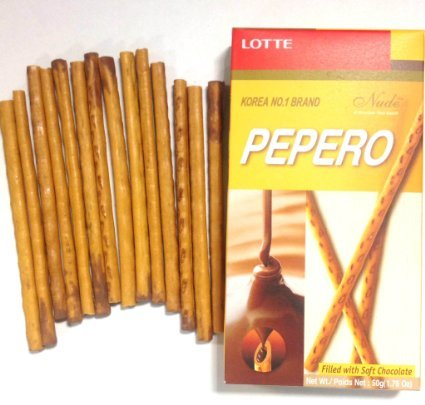 Lotte Pepero Nude Chocolate-filled Biscuit Sticks