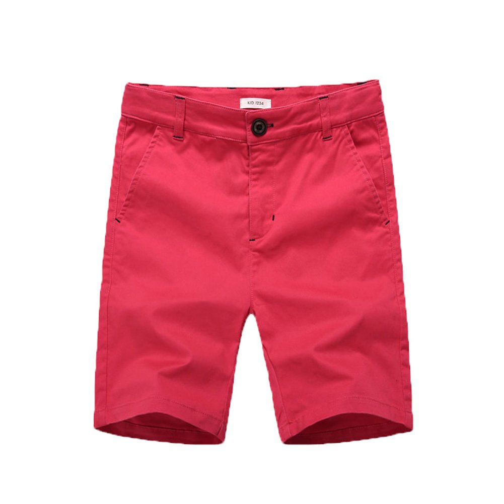 BASADINA Boys' Short - Summer Flat Front Chino Cotton Short Fitted Adjustable Waist 3-13 Years Old