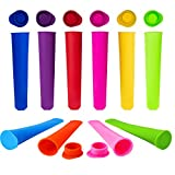 WARMWIND Silicone Ice Popsicle Molds,Reusable Popsicle Maker, BPA Free Ice Pop Mold with Anti-Odor Lids, Dishwasher Safe(Set of 10)