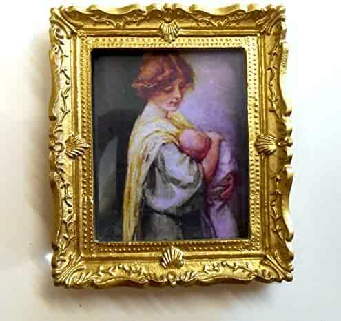 4dec7876181c Melody Jane Dolls Houses House Miniature 1:12 Accessory Victorian Mother  And Baby Picture Painting