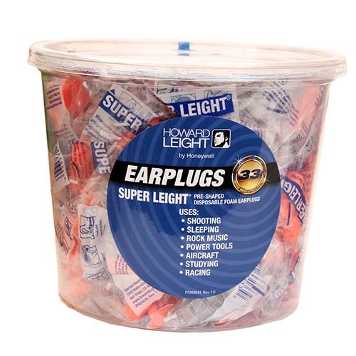 Howard Leight Super Leight Earplugs Without Cord NRR33 - 100 pair - Outlet Stores Az Phoenix
