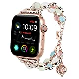 For Apple Watch Band 42mm, Tomazon Unique Luminous Night Pearl iWatch Bracelet Metal