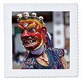 3dRose Danita Delimont - People - Asia, Bhutan, Gangtey Gonpa. Dance of the Furies. - 20x20 inch quilt square (qs_257041_8)