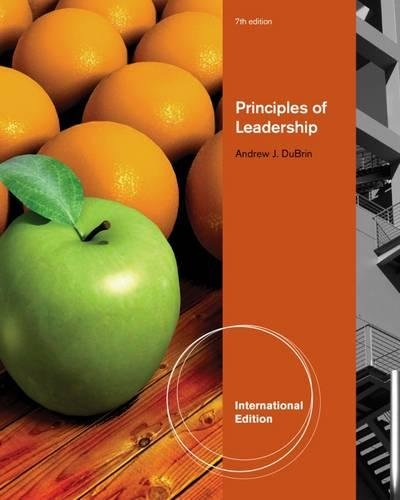Principles Of Leadership 7Th Edition.