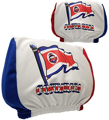 - Costa Rica Headrest Cover Flag Fit for Cars Vans Trucks-Sold by a Pairs