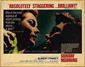 Saturday Night and Sunday Morning POSTER Movie (22 x 28 Inches - 56cm x 72cm) (1961) (Half Sheet Style A)