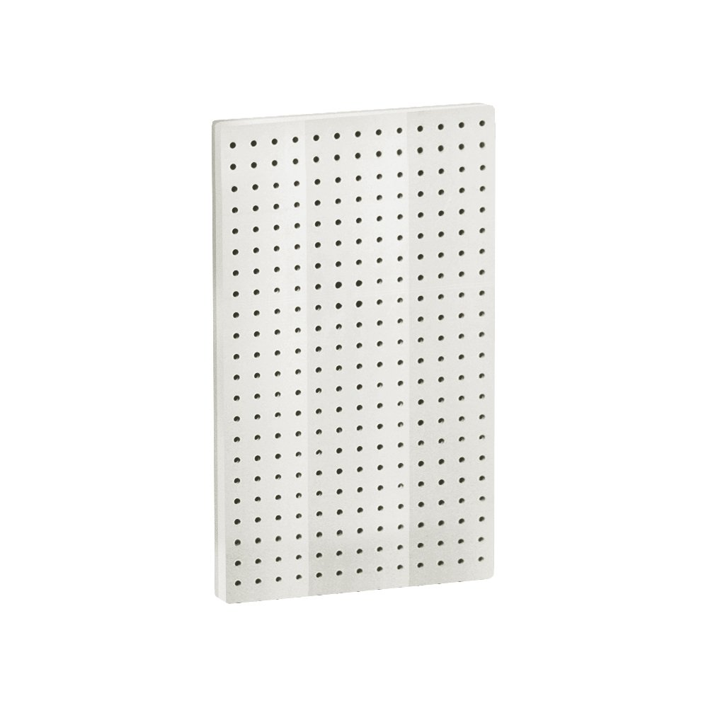 Azar 771322-WHT Pegboard 1-Sided Wall Panel, White Solid Color, 2-Pack