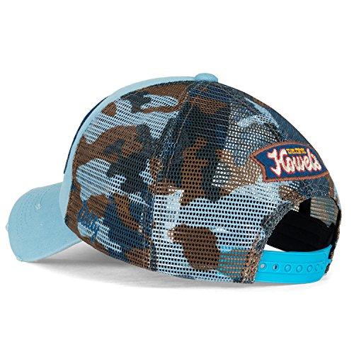 Distressed Trucker ililily Sky Baseball Cap Blue Camouflage Mesh Hat Vintage Howel's XHXp0F