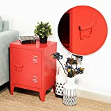 Homycasa Kids Cabinet Storage Metal Locker for Home and School Dorm use, Height 22.6Inch (Red)