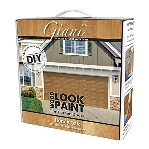 Giani Wood Look Garage Door Paint Kit 2 Car, Honey Oak