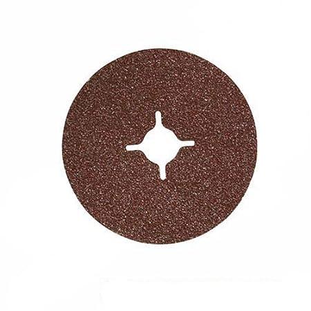 Silverline 583260 Fibre Discs, 115 x 22.2 mm 60 Grit - Pack of 10 SLTL4