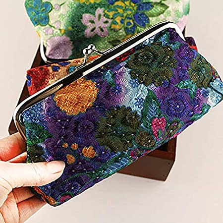625043dac Ruikey Cartera de Flores de Lona Carteras Wonderful monederos Tela peque/ñ  os Mujer monederos de Mujer para ...