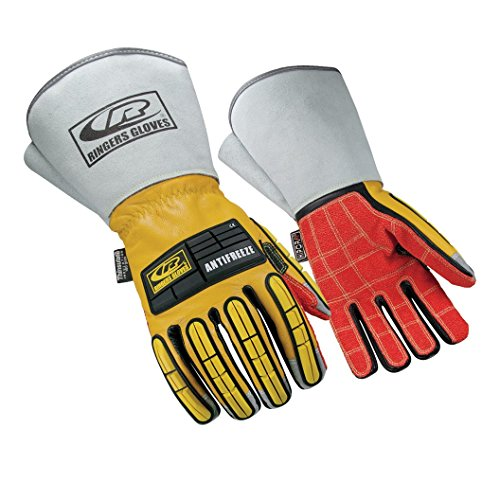 Ringers Gloves R-289 Leather Insulated, Insulated for Cold Conditions, Extended Cuff Design, Medium