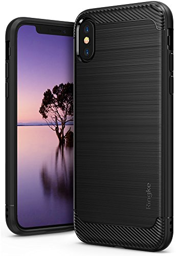 Ringke [Onyx] Case Compatible with iPhone X, [Extreme Tough] Qi Wireless Charging Compatible Rugged Protection Durable TPU Heavy Impact Shock Absorbent Case for iPhone 10 2017 - Black