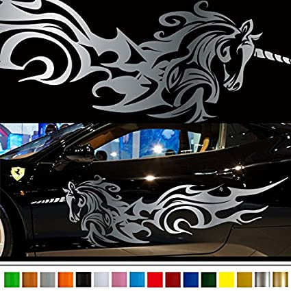 Unicorn car sticker car vinyl side graphics 167 car vinylgraphic custom stickers decals