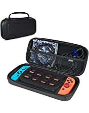 ProCase Nintendo Switch Case, Hard Shell Travel Carrying Box Case For Nintendo Switch With 8 Game Cards Holders -Black [video game]