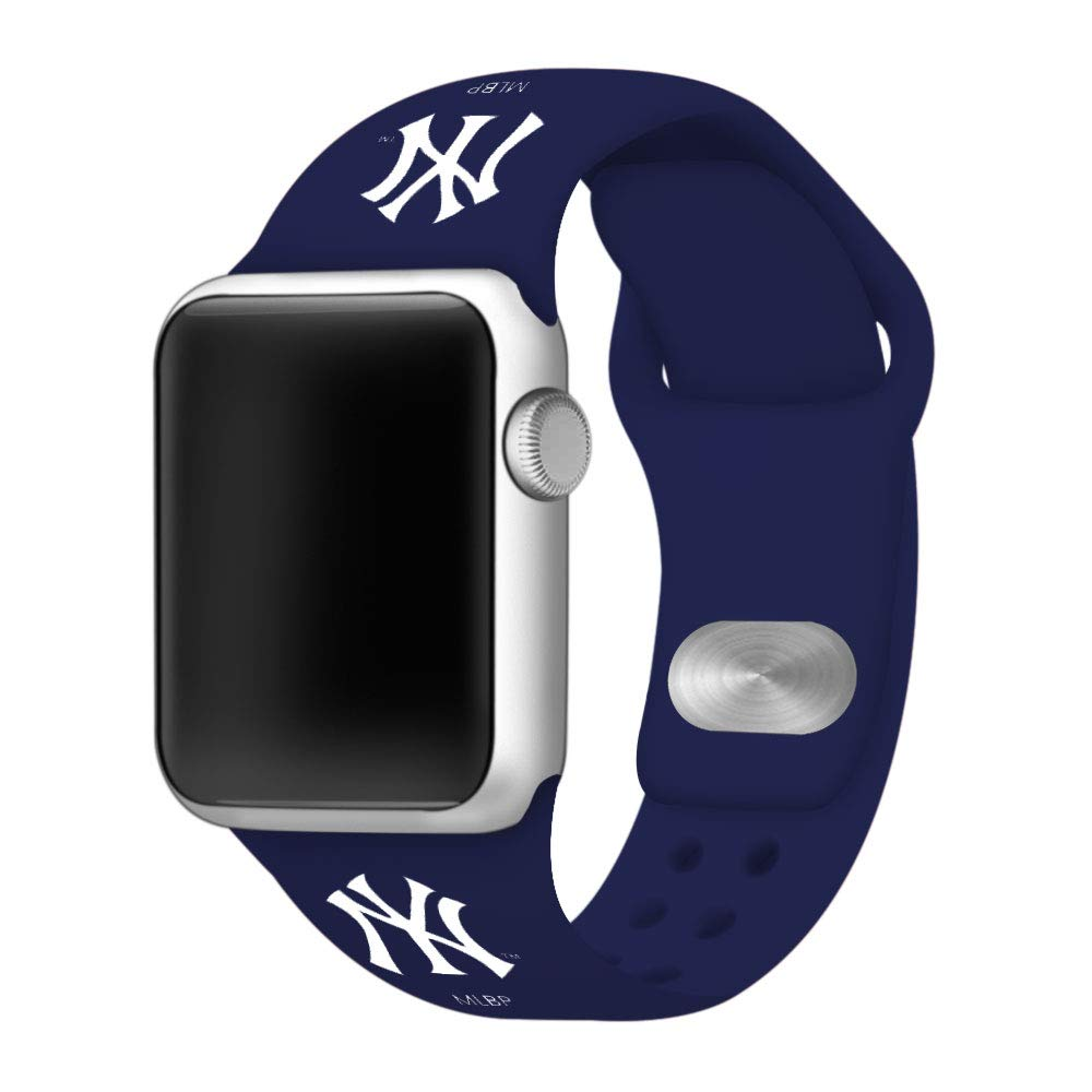 GAME TIME New York Yankees Silicone Sport Band Compatible with Apple Watch 42mm/40mm Navy Blue