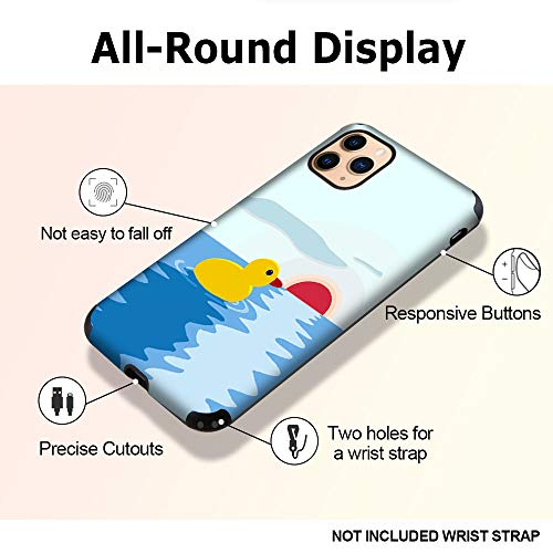 CUSTYPE Case for iPhone 11 Pro Max Case, iPhone 11 Pro Max Case Duck Pattern Girls Women Aesthetic Design Soft Flexible TPU Shockproof Bumper Protective Cover for iPhone 11 Pro Max 6.5'' (Duck)
