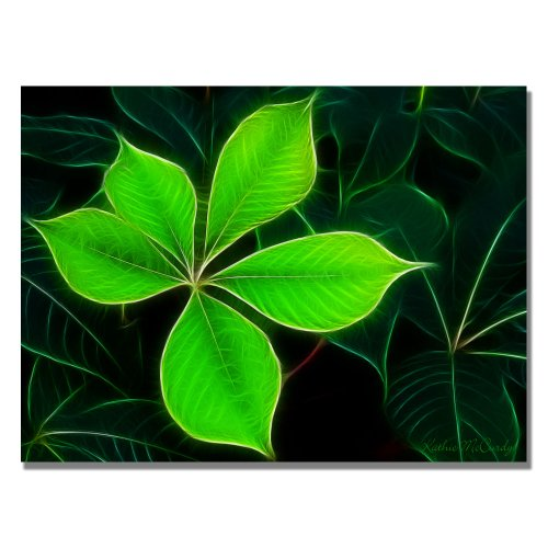 Trademark Fine Art Big Green Leaf by Kathie McCurdy Canvas Wall Art, 18x24-Inch