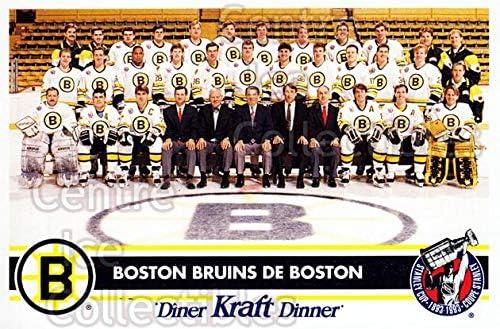Boston Bruins Hockey Card 1992-93 Kraft Dinner #1 Boston Bruins