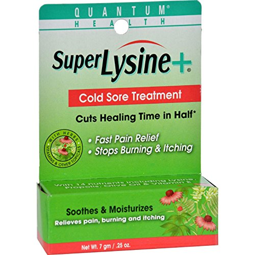 Quantum Health Super Lysine Cold Sore Treatment 0.25 oz 7 g (Best Treatment For Cold Sores On Lips)