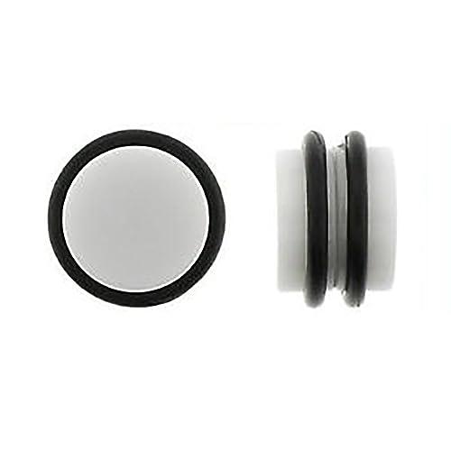 Amazon.com: Par Blanco Magnético Fake Ear Plugs Gauges ...