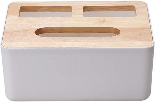 DYHOZZ Caja de pañuelos con Tapa de Madera Caja de pañuelos ...