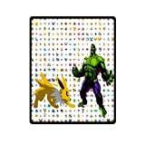 Cozy Pokemon Eevee VS Hulk Blanket 40 by 50-Inch Bedding Blanket Baby Blanket Travel Blanket
