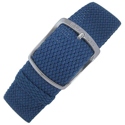 - Eulit Kristall 18mm Blue Perlon Watch Strap