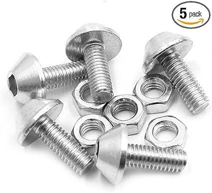 10pcs M6 Silver Tone Aluminum Alloy Hex Socket Head Motorcycle Fairing Screws