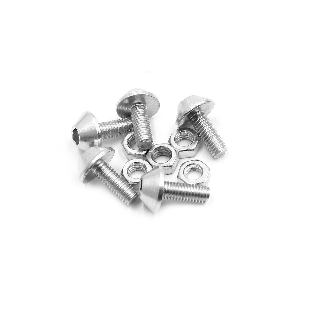Uxcell a17061900ux1478 Motorcycle License Plate Bolt Screw 5 Pack