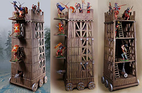 Collectors Showcase Medieval Knights Roman Empire CSSEIGE1 Siege Tower 1:30 Scale Mixed Media