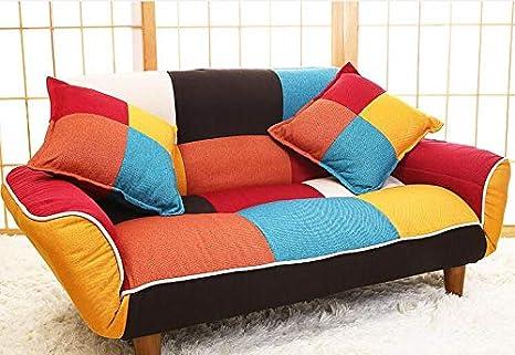 YAOHM Sofá y sofá de Dos plazas Ajustable en Tela de Colores ...