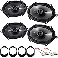 Kicker 6x8 Front+Rear Factory Speaker Replacement Kit For 1997-1998 Ford F-150