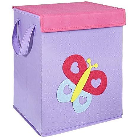FABELBUNT® Caja para juguetes con diferentes motivos colorido y mucho espacio para almacenar (37x