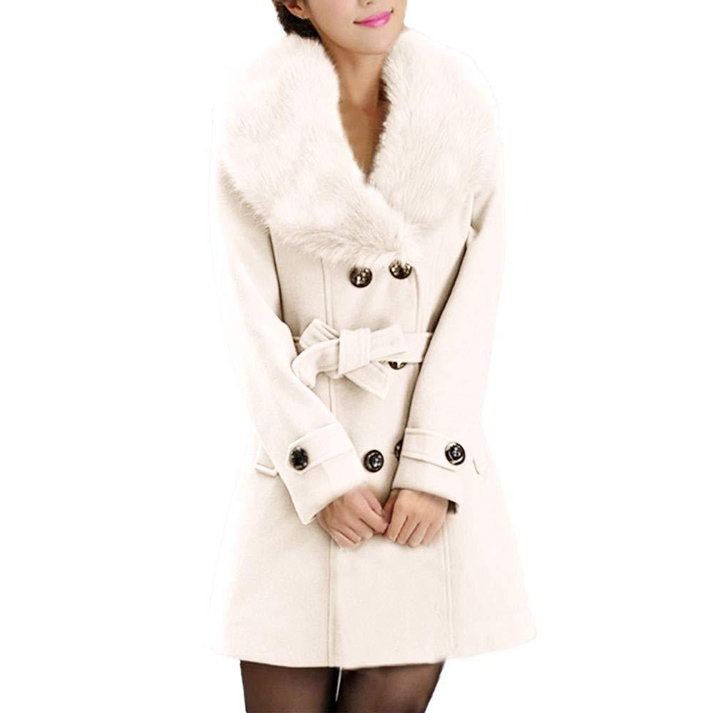Manteau Femme,Xinantime Manteau d'hiver en Laine Pour Femmes